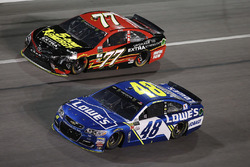 Jimmie Johnson, Hendrick Motorsports Chevrolet Erik Jones, Furniture Row Racing Toyota