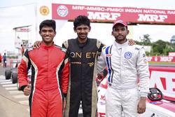 Race winner Sandeep Kumar, second place Chetan Korada, third place Arya Singh