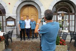 Jean-Luc Monachon, Mathéo Tuscher, Georges Gachnang photographiés par Fred Jouvenaz
