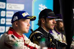 Felix Rosenqvist, Mahindra Racing, Jean-Eric Vergne, Techeetah, and Jose Maria Lopez, DS Virgin Raci