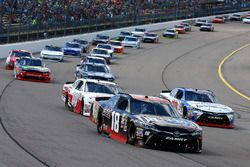 Kyle Benjamin, Joe Gibbs Racing Toyota, Ryan Preece, Joe Gibbs Racing Toyota y Cole Custer, Stewart-