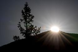 Amanecer sobre Pikes Peak