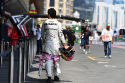 Sergio Perez, Sahara Force India après son crash