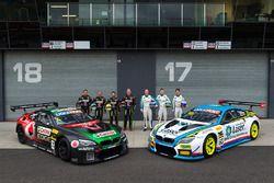 #7 BMW Team SRM, BMW M6 GT3: Tony Longhurst, Mark Skaife, Russell Ingall, Timo Glock; #60 BMW Team S