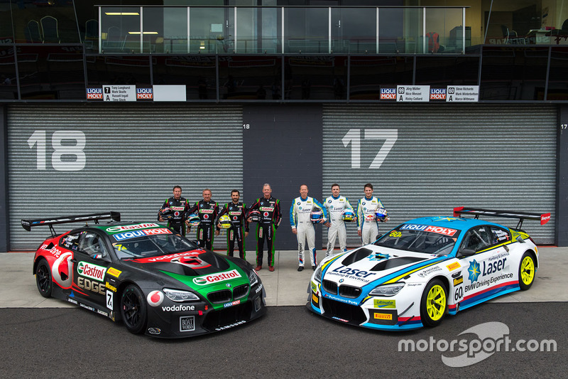 #7 BMW Team SRM, BMW M6 GT3: Tony Longhurst, Mark Skaife, Russell Ingall, Timo Glock, #60 BMW Team SRM, BMW M6 GT3: Steve Richards, Mark Winterbottom, Marco Wittmann