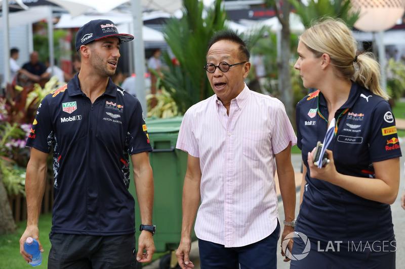 Daniel Ricciardo, Red Bull Racing, Ong Beng Seng, proprietario Hotel Properties Ltd e Singapore entrepreneur