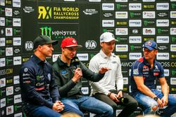 Conferencia de prensa Petter Solberg, PSRX Volkswagen Sweden, VW Polo GTi, Janis Baumanis, STARD, Fo