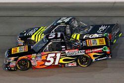 Myatt Snider, Kyle Busch Motorsports Toyota, Justin Haley, GMS Racing Chevrolet