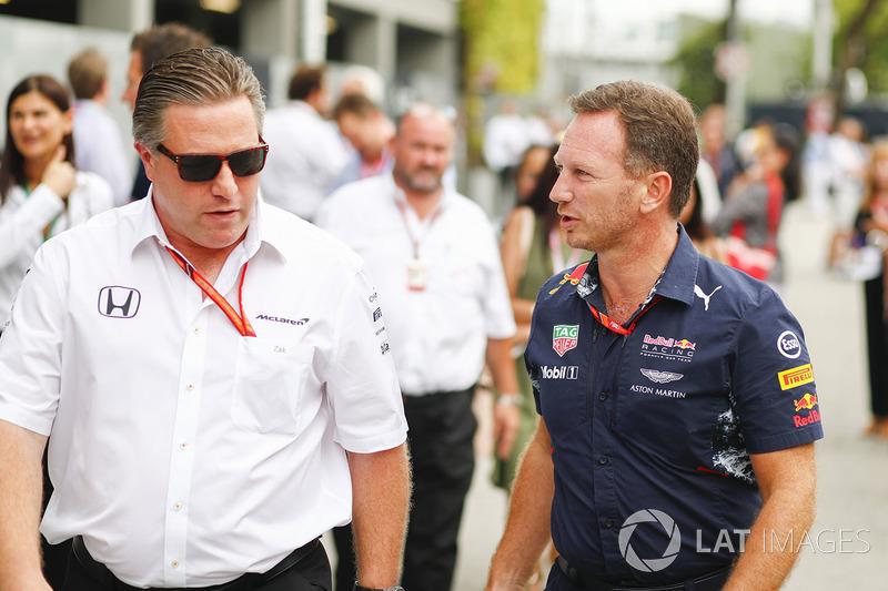 Виконавчий директор McLaren Technology Group Зак Браун, керівник Red Bull Racing Крістіан Хорнер