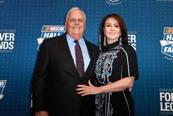 NASCAR Hall of Fame inductee Rick Hendrick with his wife Linda