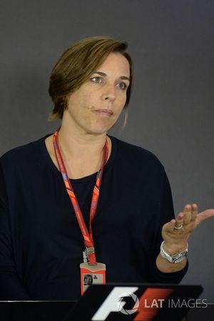 Claire Williams, directrice adjointe Williams en conférence de presse