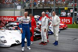 Hans-Joachim Stuck, Jean Alesi, Helmut Markko, Consultant, Red Bull Racing, Tom Kristensen and Gerha