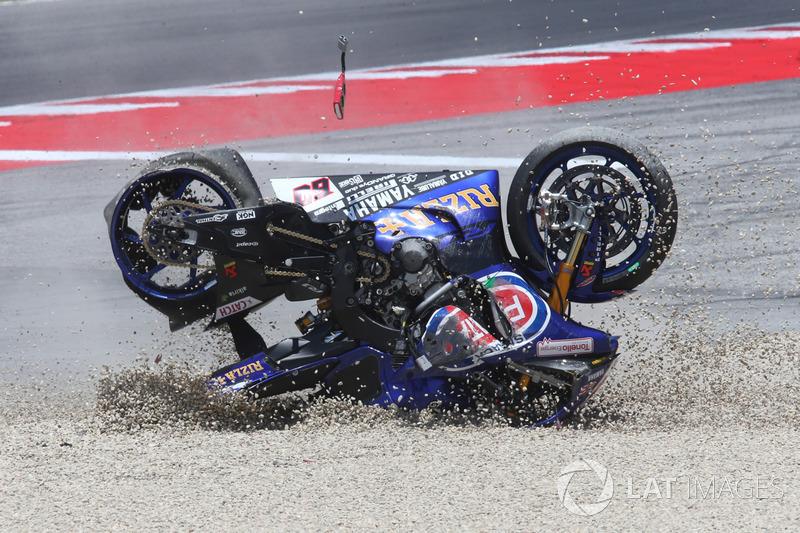Kecelakaan Michael van der Mark, Pata Yamaha - WorldSBK San Marino 2017