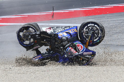 Michael van der Mark, Pata Yamaha, crash