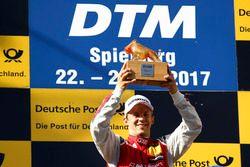 Podium: le vainqueur Mattias Ekström, Audi Sport Team Abt Sportsline, Audi A5 DTM
