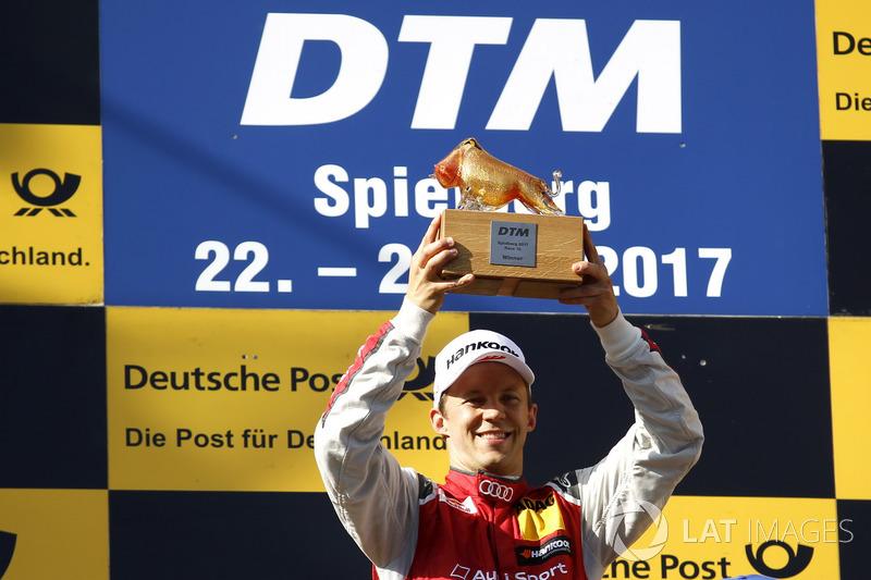 Podio: Ganador de la carreraMattias Ekström, Audi Sport Team Abt Sportsline, Audi A5 DTM