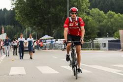 Sebastian Vettel, Ferrari, à vélo