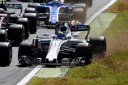 Felipe Massa, Williams FW40, dans l'herbe au départ