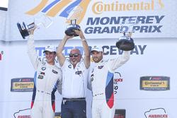 GTLM podium: winners John Edwards, Martin Tomczyk, BMW Team RLL, team owner Bobby Rahal