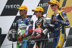 Podium: second place Kenan Sofuoglu, Race winner Marc Marquez, third place Bradly Smith