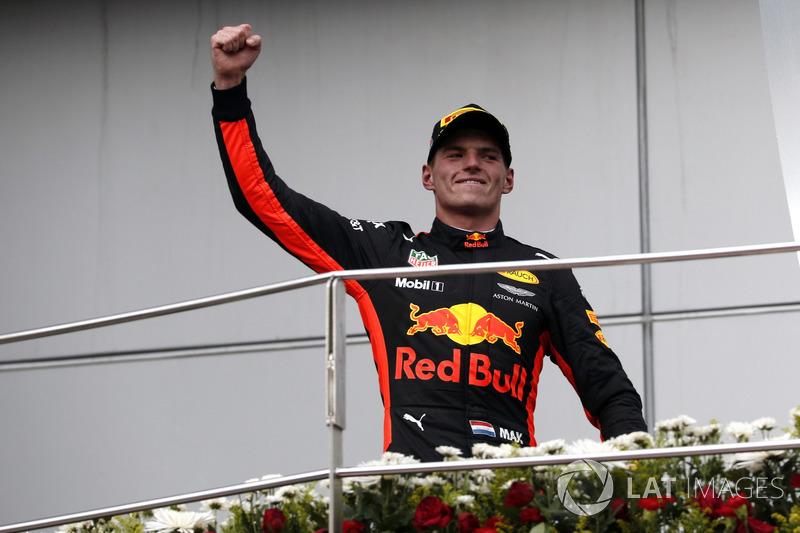 Подиум: победитель Макс Ферстаппен, Red Bull Racing