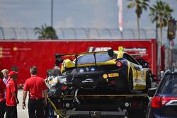 #209 Scuderia Corsa - Ferrari Westlake Ferrari 458 Challenge: Oscar Paredes-Arroyo, crashed car