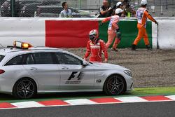 Kimi Raikkonen, Ferrari and Medical car following