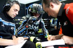 Pietro Caprara, Sky Racing Team VR46 technical director, Stefano Manzi, Sky Racing Team VR46