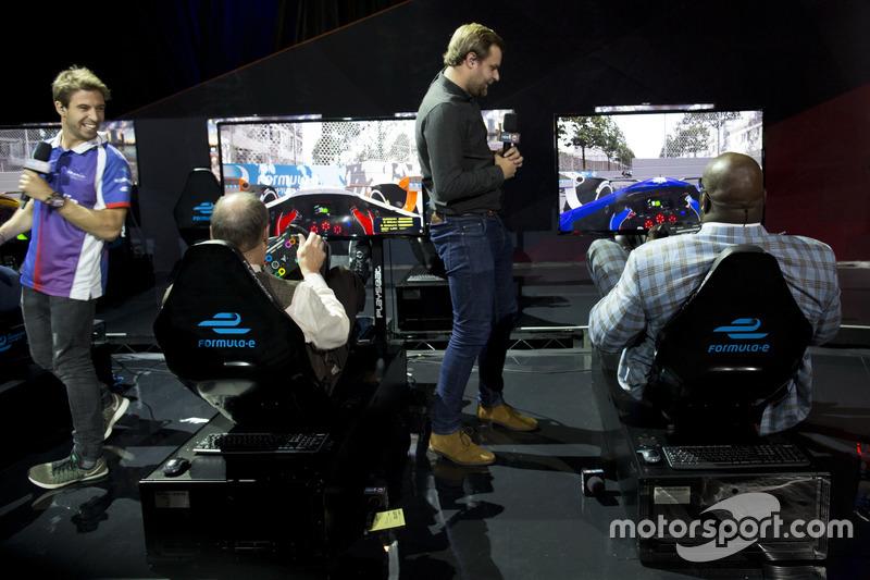 Antonio Felix da Costa, Amlin Andretti Fórmula E Team, Ernie Johnson Jr, Jack Nicholls y Shaquille O'Neal