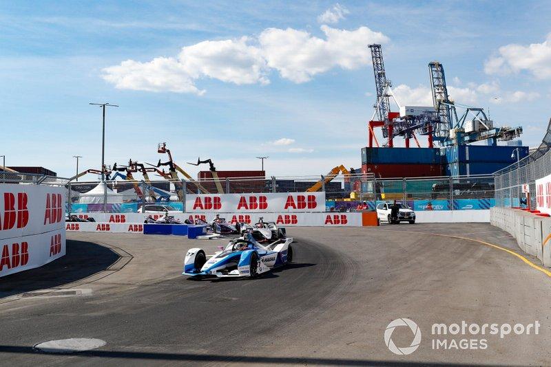 Alexander Sims, BMW I Andretti Motorsports, BMW iFE.18, Sébastien Buemi, Nissan e.Dams, Nissan IMO1