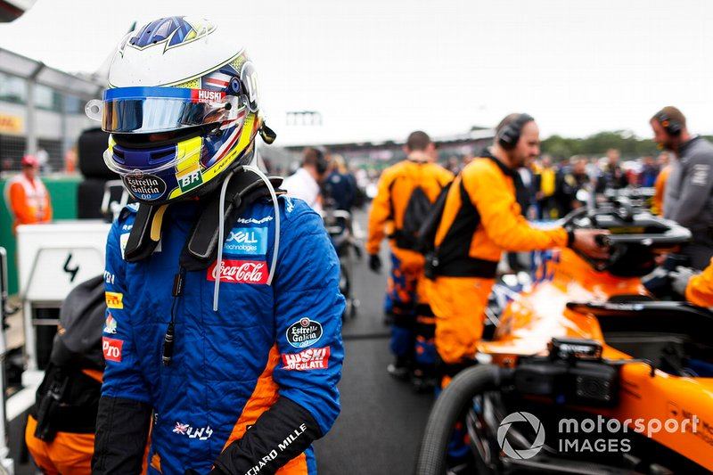 Lando Norris, McLaren, on the grid