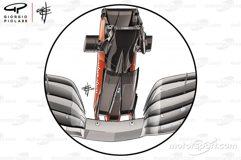Le dessous du museau de la Ferrari SF90