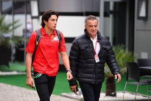 Jean Alesi and Giuliano Alesi
