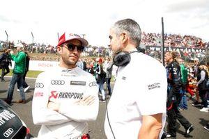 Mike Rockenfeller, Audi Sport Team Phoenix con Dieter Gass, jefe de DTM Audi Sport