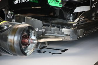 Haas F1 Team VF-19 bargeboard detail