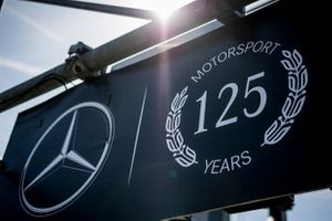 Mercedes 125 years in motorsport signage