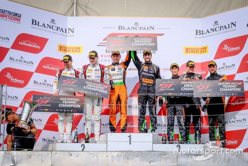 Champions podium