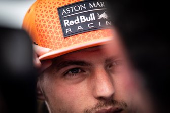 Max Verstappen, Red Bull Racing talks to the media