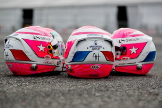 Tribute Helmet worn by FIA Formula 2 drivers Jack Aitken, Campos Racing, Guanyu Zhou, UNI Virtuosi Racing, and FIA Formula 3 drivers Max Fewtrell, ART Grand Prix Ye Yifei, Hitech Grand Prix Christian Lundgaard, ART Grand Prix