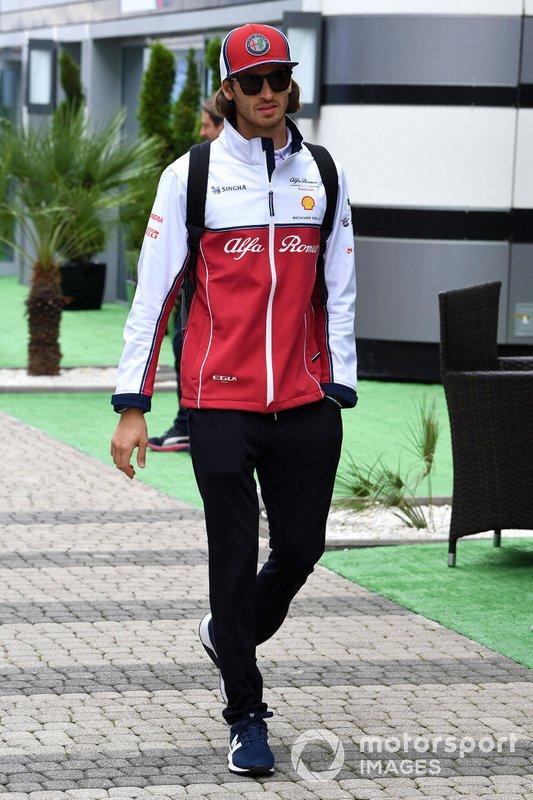 Antonio Giovinazzi, Alfa Romeo Racing C38 arrives at the track