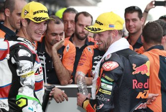 Secondo classificato Brad Binder, KTM Ajo, terzo classificato Iker Lecuona, American Racing KTM