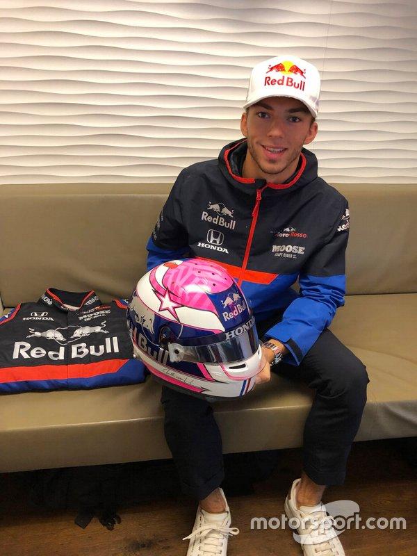Casco di Pierre Gasly, Toro Rosso