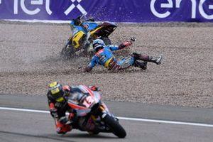 Xavi Vierge, Marc VDS Racing crash, Thomas Luthi, Intact GP