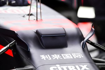 Aero details op de Red Bull Racing RB15