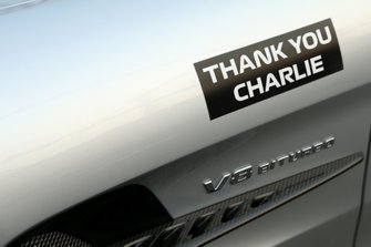 Thank You Charlie logo on the Safety Car in memory of Charlie Whiting