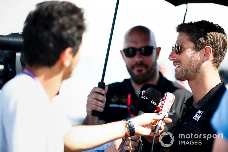 Romain Grosjean, Haas F1, parle à la presse