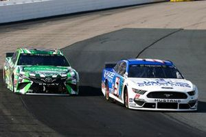 Andy Seuss, Petty Ware Racing, Ford Mustang JACOB COMPANIES and Kyle Busch, Joe Gibbs Racing, Toyota Camry M&M's Interstate Batteries