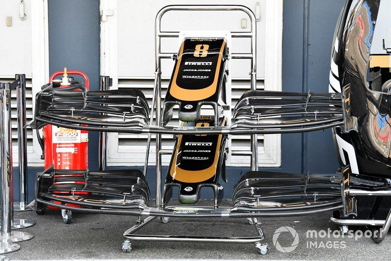 L'aileron avant de la Haas F1 Team VF-19