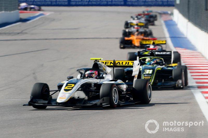 Max Fewtrell, ART Grand Prix and Logan Sargeant, Carlin Buzz Racing