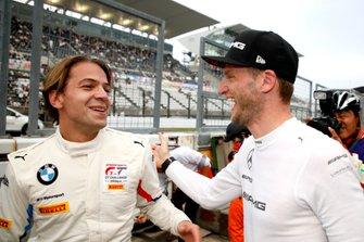 #42 BMW Team Schnitzer BMW M6 GT3: Augusto Farfus and #999 Mercedes-AMG Team GruppeM Racing Mercedes-AMG GT3: Maro Engel